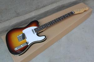 Бесплатная доставка Оптовой TL электрической гитара, натуральный Brown TL гитара белой накладка электрогитара