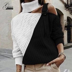 Gold Hands Autumn Winter turtleneck street Elasticity Knitwear casual brand sweater Women Fashion long sleeve Pullovers Y200819
