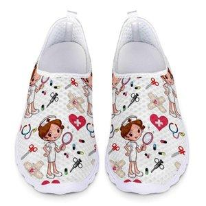 PADEGAO Cartoon Imprimer Sneakers Glissement Chaussures Mesh léger d'été respirant Flats Chaussures Zapatos Planos PDG1239