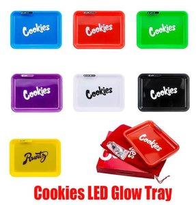 LED rolando Bandeja recarregável cookies Califórnia Skittles estrangeiro Labs Destaque Titular seco Herb tabaco de enrolar de armazenamento de voz controle OWE704