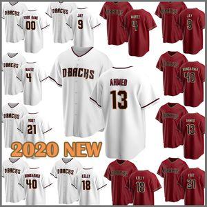 personalizados Baseball Jersey Diamondbacks 51 Randy Johnson 4 Ketel Marte 21 Zack Greinke 9 Matt Williams 13 Nick Ahmed 42 Jackie Robinson Avila