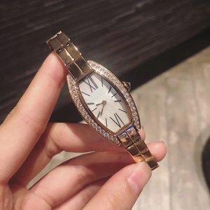 Qualitäts-Quarz-Uhr-Frauen 25mm Uhr Weiß Dial 316 Stainless Band Stainless Weibliche Uhr Monor Hemmo