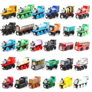 Modèle en bois Thomas Toy Train, Mini Taille Compatible avec Piste Thomas Train, pour la fête de Noël Enfant Cadeau d'anniversaire, Ornement Accueil