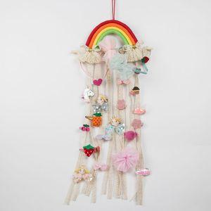 INS Nordic 15 стилей сплетенных радуг стена висит Причёский детская заколку для волос ремня для хранения аксессуаров НАСТЕННОЙ отделки стойки M2530