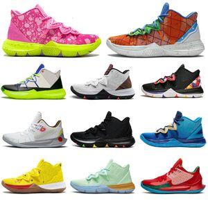Wholesale Kyrie IrvingSPONGEBOB S2 5 Jumpan Hommes Chaussures de basket-ball Extérieur All Star Friends Baskets Sportifs Sports Sneakers Taille 7-12