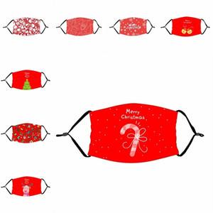 Red Dust Joyeux Noël réutilisable Mascarilla enfants bouche avec respirateurs PM2,5 Cleanerzoomer Masque Mode adulte Protéger Clochette 4 2xte B2