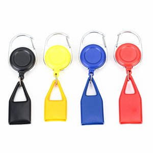 Colorful Lighter Sheath Protective Case Key Buckle Portable Leash Telescopic Rope Shell For Cigarette Smoking Pipe DHE617