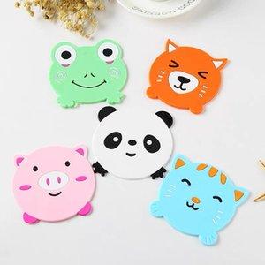 rilievo del silicone da tavola stuoia della tazza di isolamento del modello animale della Tabella del fumetto Decorare stile creativo della rana del panda Pig Cat Modeling