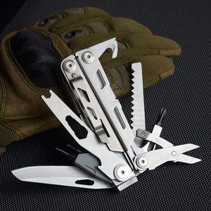 드라이버 1 멀티 도구 펜치 접는 나이프 서바이벌 멀티 블레이드 14는 캠핑 하이킹 SAW 등산 오프너 나무 병 및 C7DF 번호를 수행