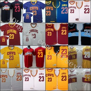 ClevelandCavaliershomens # 23LeBron James RevolutionNBA Swingman Natal Dia Jersey Yellow