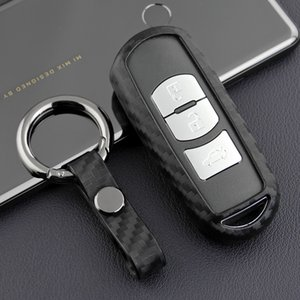 실리콘 탄소 섬유 자동차 키 케이스 자동차 원격 쉘 커버 Mazda 2/3/6 CX-3 / 5 / 9 MX-5 Toyota Yaris Protector Auto Keychain