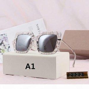 Gafas de sol para mujer de lujo gafas de sol de diseñador para mujer UV400 3 Modelo 2922 1711 9011 15 colores de alta calidad