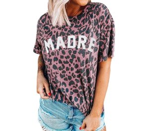 Womens Stylist T Shirts Printed Short Sleeve Leopard Clothing Multicolored T Shirts Fashion Designers Femals Clothes Polyester00