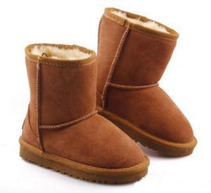 HOt продаст Марк Дети Обувь Девушка Boots зима теплого голеностопные малыши Мальчики Boots обувь дети снега сапоги Детского Плюшевый Теплый обуви
