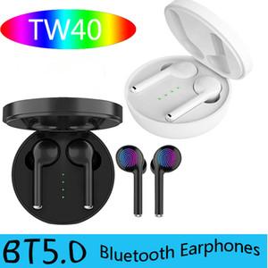TW40 TWS sans fil Bluetooth écouteur stéréo Bluetooth Touch Control V5.0 Portable Oreillettes Sport Casque jumelage automatique Oreillette