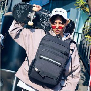 College Freestyle Skateboard Rucksack Laptop Password Lock Anti-Diebstahl-Schulter-Rucksack Parkour Longboard-Rad USB Charge Taschen
