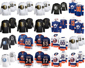 New York Islanders 2020 All-Star Game Ice Hockey Jerseys 4 Andy Greene 44 Jean-Gabriel Pageau 13 Mathew Barzal 27 Anders Lee Custom Stitched
