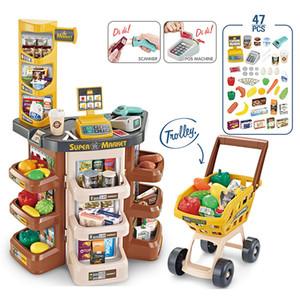 محاكاة سوبر ماركت البيت سلة التسوق دور أطقم فتاة اللعب بتقمص الأدوار البيت سوق لعب كاونتر تسجيل النقدية ألعاب تعليمية للأطفال