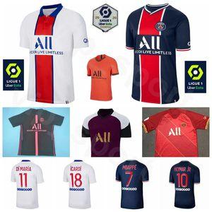 2020 2021 파리 제르맹 7 MBAPPE 축구 유니폼 10 네이 마르 JR (18 개) ICARDI 11 디 마리아 6 VERRATTI 19 사라비아 축구 셔츠 키트