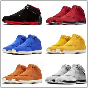 Jumpman 18 18s Mens Kids Basketball Shoes Toro OG ASG Bred Cool Grey Sport Suede Blue Yellow Orange RETRO Trainers Sports Sneakers