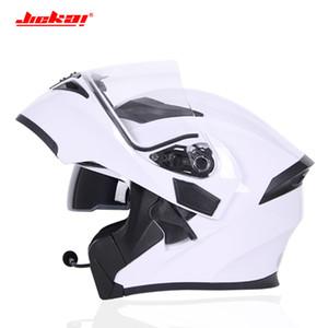Satılık Motosiklet bluetooth Çift Siperlik çevirin Yukarı Kask Yarış 4 Mevsim Şapkalar Casque Capacete Kasko dot bluetooth kask