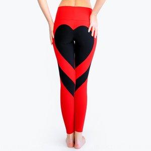 Bunda coração pêssego costura quadril magro ioga alta Coração pêssego hip-costura calças slim leggings calças cintura cintura MNZ1X