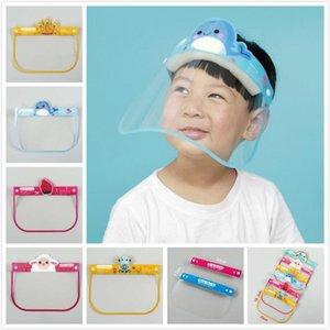 PET fumetto dei capretti Visiera di sicurezza con i vetri di protezione mascherina mascherine di copertura Anti-Fog Anti-UV Transpartent partito Per ragazze dei ragazzi LJJA1755