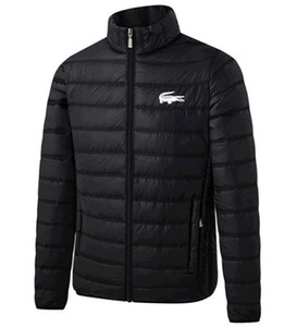 Lacoste Designer Jacket casacos de inverno dos homens Pato Branco Down Jacket Com Hoodies Preto Azul Doudoune Homme Hiver Marque Exteriores Parka c