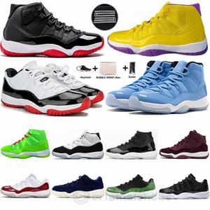 Nike Air Jordan Retro Con Box Portachiavi Bred 11 Pantone Concord 45 Mens Basketball Shoes 4 Cactus Jack White Cement Quali le scarpe da ginnastica da donna formatori uomo di sport