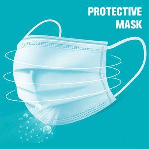 Бесплатная доставка 3-7 дней 3-Layer Нетканые одноразовые маски для лица Маски Защита и личная медицинская маска для лица Маска Санитарные голодает корабль
