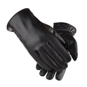 Xsh0V inverno caldo all'aperto di guida caldi elettrici electrombile guanti di velluto auto ispessite antivento guanti in pelle PU touch screen impermeabile