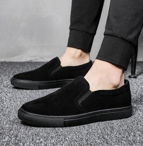 2020 Classics Leather Men Casual Shoes Fashion Men Luxury Sneakers Loafers Genuine Platform Summer Shoes Slip on Men's Flats Driving Boat