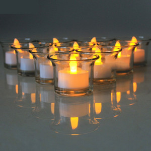 A Pack Of 12 Flashing Flameless And Waterproof Candle Lights Floating On A Plastic Battery-operated Swimming Pool Spa Tea Light With Water