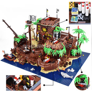 В наличии 49016 3520pcs Пираты Barracuda Bay Pirate Ship Building Block Кирпичи игрушки подарка детей