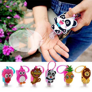 New Creative Cartoon Silicone Sleeve Portable Hand Sanitizer Silicone Bottle Cute Animal Silicone Sleeve With 30ML Empty Bottle