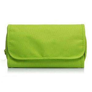 Large Capacity Canvas Wash Pouch Toiletry Men Women Mesh With Hook Travel Accessories Solid Makeup Bag Hanging Folding Home