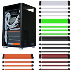 Básico Extensão Kit Cabo 30cm / 40 centímetros ATX PC GPU CPU 24 PIN de 8 pinos 6 pinos 4 + 4PIN Alimentação Manga fio Computer Connectors C26