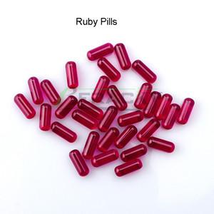 Beracky Ruby пилюль 6мм Pill Вставьте ТЕРП Pearls Курительные принадлежности Для Terp Slurp Кварц Banger Гвозди Стеклянные бонги воды Dab станкам Трубы