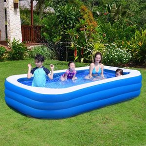 Family Inflatable Swimming Pool Above Ground Inflatable Pools for Kids Adults Summer Water Party Outdoor Backyard Water Park QjHm#
