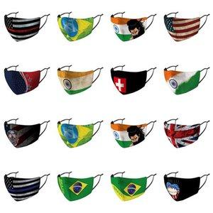 Maschere di copertura panno di cotone Bandiere Unito Maschere Paesi Confezionato Paesi Naso autonomamente United Arab Grooth Australia Arabo Sconto BrFdM