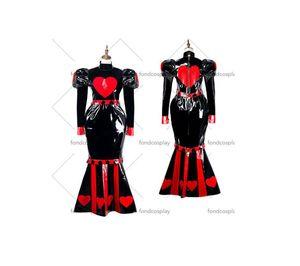 Francia Sissy Maid Dress pvc costume cosplay dell'uniforme serratura Tailor-made