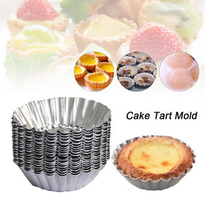 Egg non-Stick Tart Moule 7cm Diamètre Tinplate Egg Tart cuisson Moule Muffin Coupe Pie Pan Bakeware
