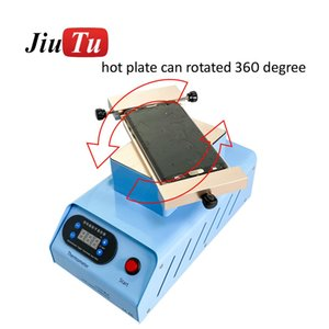 التدفئة LCD فاصل 360 درجة دوران لشاشة آي فون XS لسامسونج حافة آلة لتصليح المدمج في مضخة فراغ مزدوج
