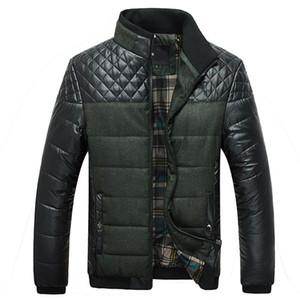 New arrival Zipper fashion mens Winter Men Coat Clothing Padded Thickened Keep warm Jacket plus size M L XL 2XL 3XL 4XL