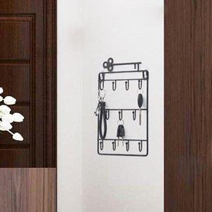 Ana Salon Dekoratif Duvar Asma Kilit Tutucu Organizatör Çanta Saç Pin Çok Amaçlı Kapı Arka Odası Depolama Hook Raf