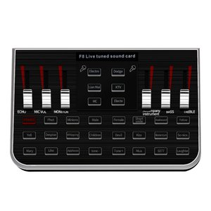 A+Music Synthesizer Tuning Sound Card o Anchor Singing Equipment Mobile Phone Computer Microphone Voice Change