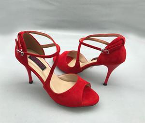 Confortáveis e Fashional Argentina Tango Dance Shoes Partido Shoes Shoes casamento com couro sola T6291RS