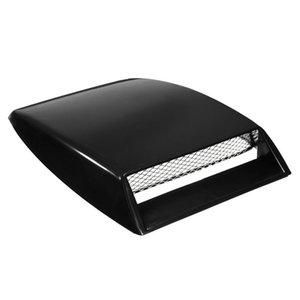 Universal Car Auto Black Decorative Air Flow Intake Scoop Bonnet Vent Cover Hood