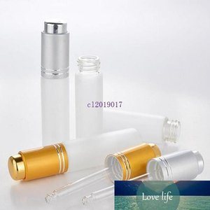 1500pcs 20 ML Mini Portable Frosted Glass Refillable Perfume Bottle Empty Cosmetic Parfum Vial with Dropper Free Shipping