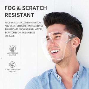 Neue BLOCK FACE SHIELD PC Wasserdichte Gesichtsmaske Wiederverwendbare transparente PVC-Gesichtsabdeckung Voller dauerhafter atmungsaktiver Visiermaske FY7259